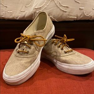 Vans Sneakers — Tan Canvas with Leather Laces